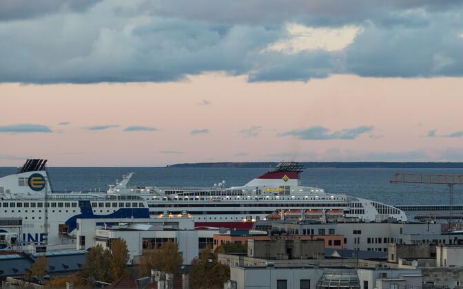 The Viking XPRS in port in Tallinn.