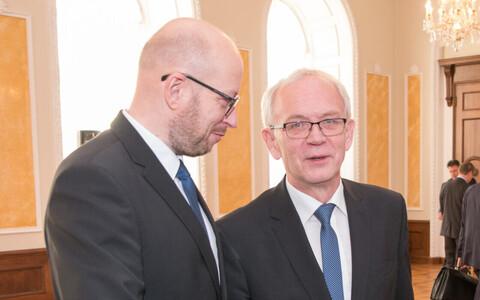 Priit Pikamäe and Eiki Nestor, Tallinn, Oct. 20, 2017.