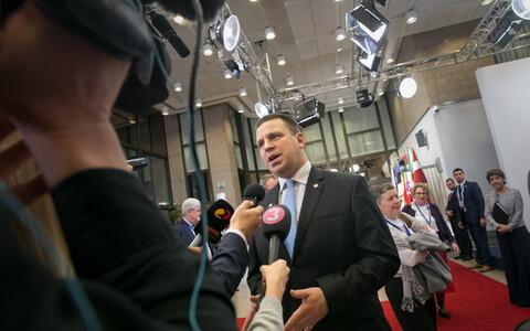 Peaminister Jüri Ratas Euroopa Ülemkogul.
