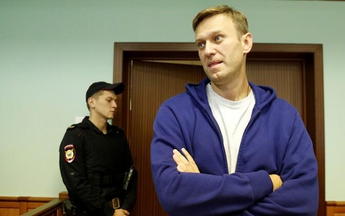 Aleksei Navalnõi 6. oktoobril Moskva linnakohtus.