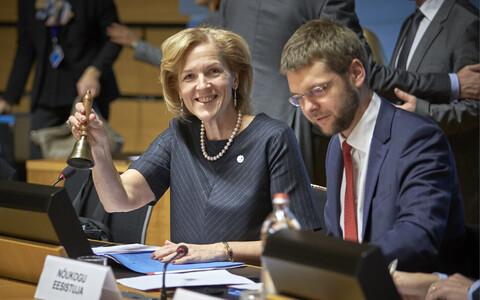 Ministrid Kaia Iva ja Jevgeni Ossinovski Luksemburgis EPSCO kohtumisel.