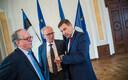 Enn Eesmaa, Eiki Nestor ja Hanno Pevkur mullu oktoobris toimunud juhatuse valimiste järel.