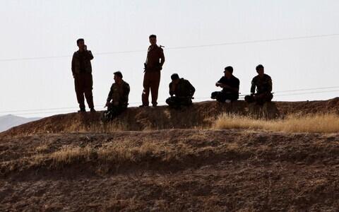 Kurdide pešmerga jõud Kirkuki ja Erbili vahel.