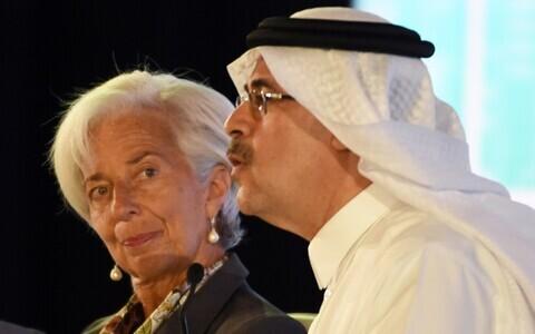 IMF-i juht Christine Lagarde ja Saudi naftakompanii Aramco juht Amin Nasser.