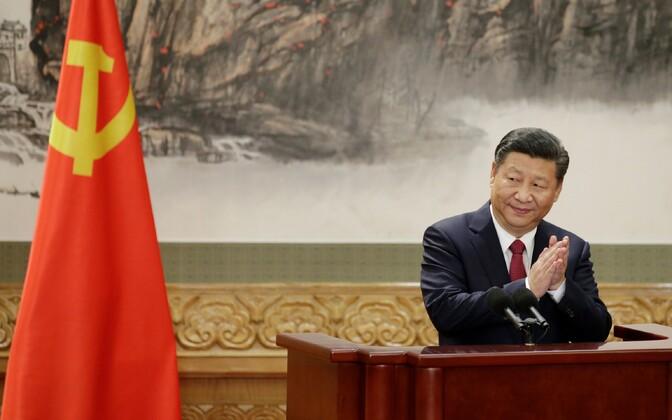 Xi Jinping 25. oktoobril Pekingis parteikongressil.
