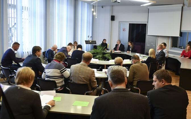 Первое заседание в Нарвском горсобрании после выборов.