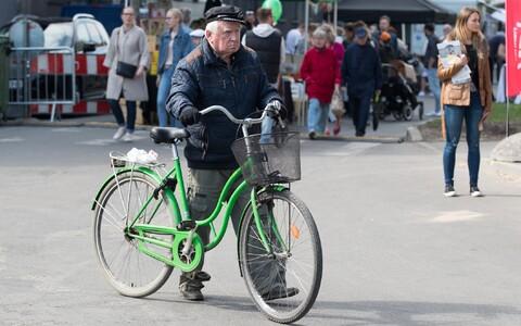 Üksik jalgrattur tänavu kevadel Kalamaja päevadel-