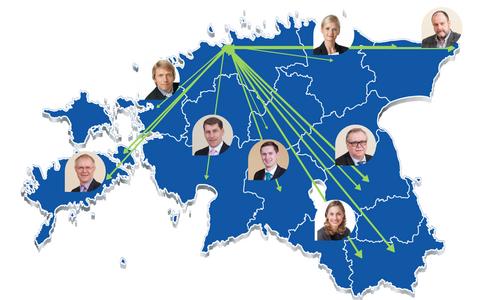 Umbes 30 saadikut hakkab Tallinnast üle Eesti volikogudesse sõitma. Enim sõidetakse Saaremaale, Tartumaale ja Viljandisse.