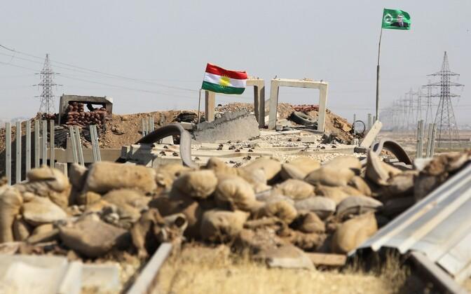 Kurdistani lipp Kirkuki lähistel 14. oktoobril.