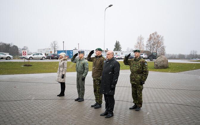 Открытие оборонного комплекса в Тапа.