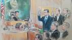 Kohtuillustraatori pilt Manaforti ja Gatesi istungist.