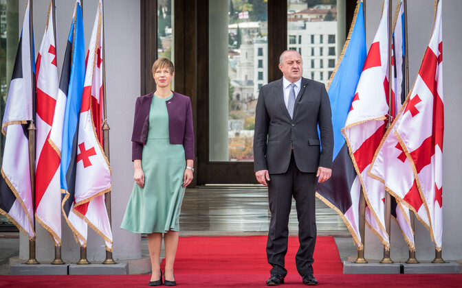 ВТбилиси прибыла президент Эстонии Керсти Кальюлайд