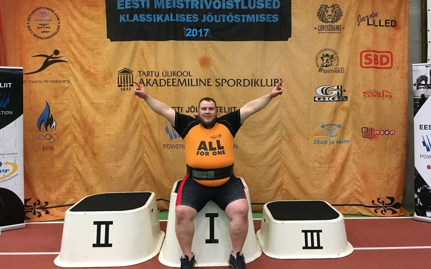 eef46034900 Klassikalise jõutõstmise Eesti meistrivõistlustel oli võidukas Siim ...