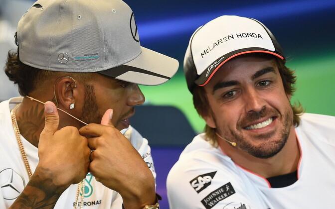 Lewis Hamilton ja Fernando Alonso