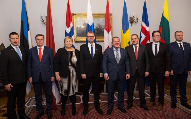 NB8 heads of government in Helsinki on Wednesday. Nov. 1, 2017.
