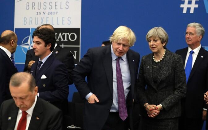 Briti välisminister Boris Johnson vaatab Türgi presidenti Recep Tayyip Erdogani ja räägib peaminister Theresa May'ga NATO tippkohtumisel käesoleva aasta 25. mail Brüsselis.