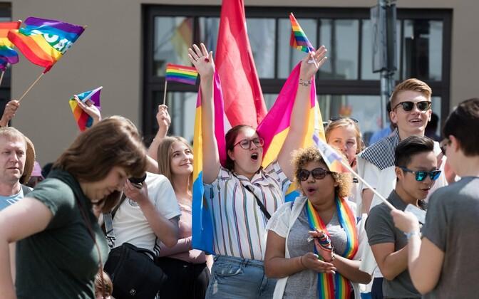 Attendees at last year's Tallinn Pride event