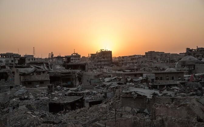 Lahingutest räsitud Mosuli vanalinn.