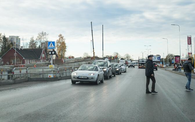 Развязка Хааберсти в Таллинне 3 ноября.
