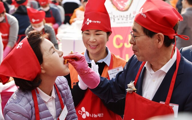 Kimchi valmistamine Soulis
