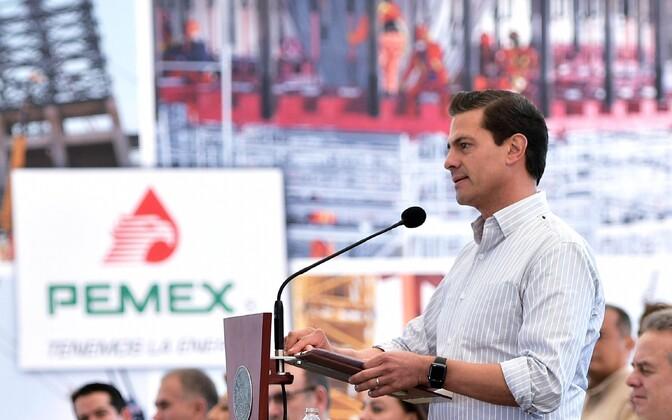 Mehhiko president Enrique Peña Nieto Pemexi korraldatud üritusel.
