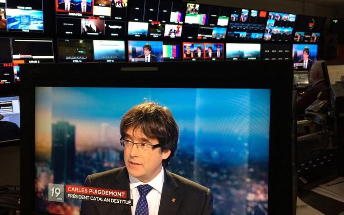 Carles Puigdemont Belgia prantsuskeelses ringhäälingus RTBF.