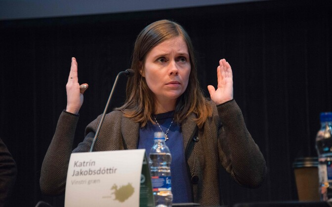 Islandi Vasak-Rohelise Liikumise juht Katrín Jakobsdóttir.