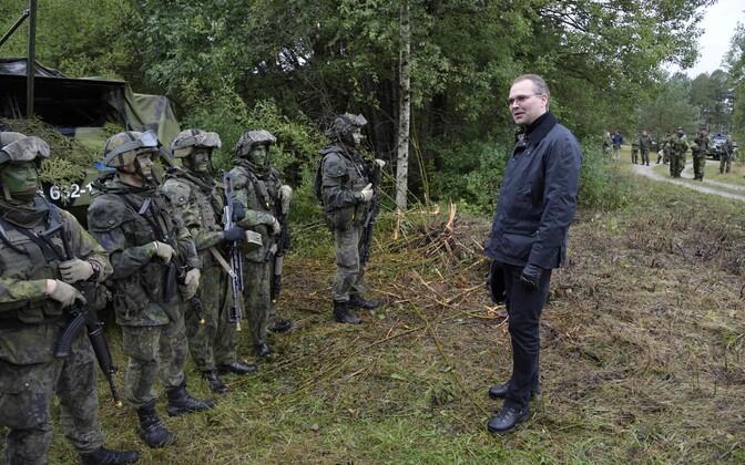 Soome kaitseminister Jussi Niinistö septembris Rootsis Gotlandi saarel toimunud ühisõppusel Aurora 17.
