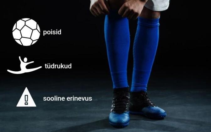 Eesti spordiregistri andmeil tegeleb ametlikult erinevate spordialadega 101114 noort, kellest umbes 2/3 on poisid.