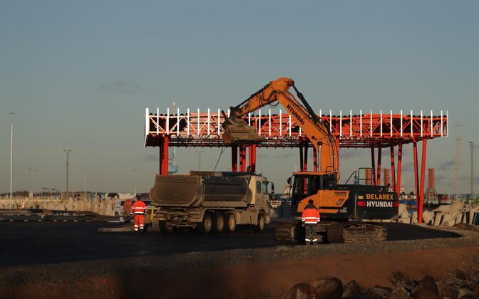 Строительство участка Рейди теэ в Таллиннском порту