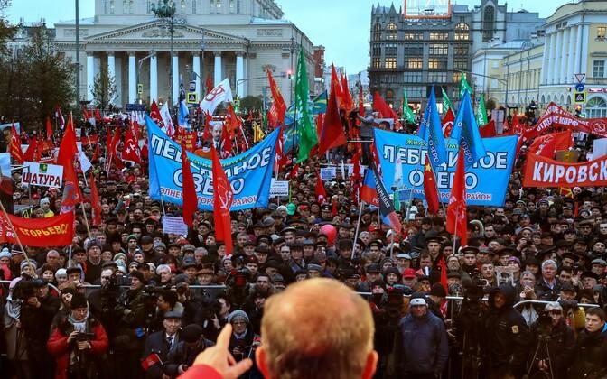 Oktoobrirevolutsiooni aastapäeva tähistamine Moskvas.