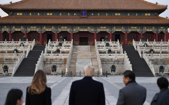 Президент США Дональд Трамп прибыл с визитом в Пекин