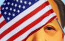 Ameerika lipp ja Mao Zedongi portree