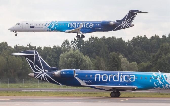 Nordica jets at Tallinn Airport.