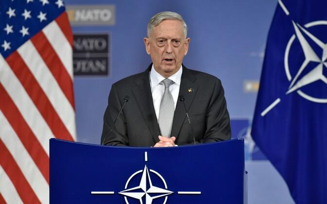 U.S. Secretary of Defense James Mattis speaking at NATO Headquarters in Brussels on Thursday. Nov. 9, 2017.