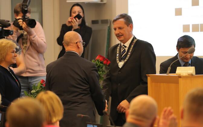 Tallinna linnavolikogu kogunes linnapead valima.