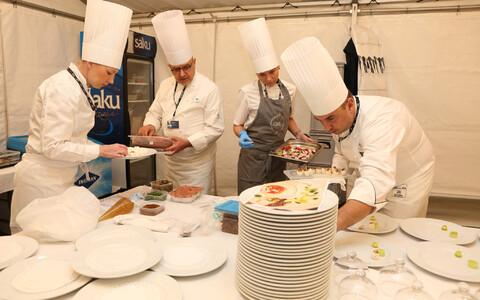 Ужин для участников саммита готовили пять шеф-поваров.
