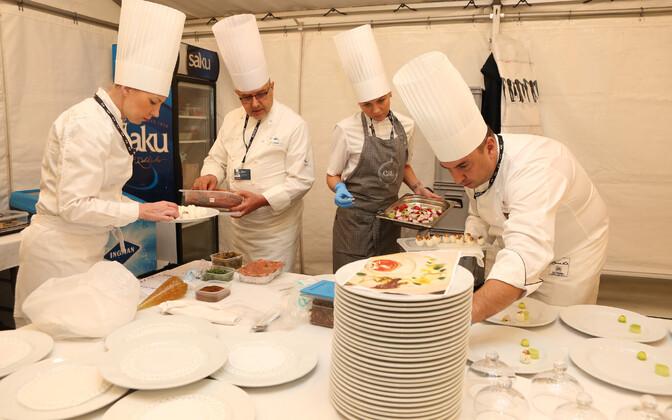 Tippkohtumise õhtusööki valmistas viis peakokka ja oluliselt suurem meeskond kui teistel üritustel.