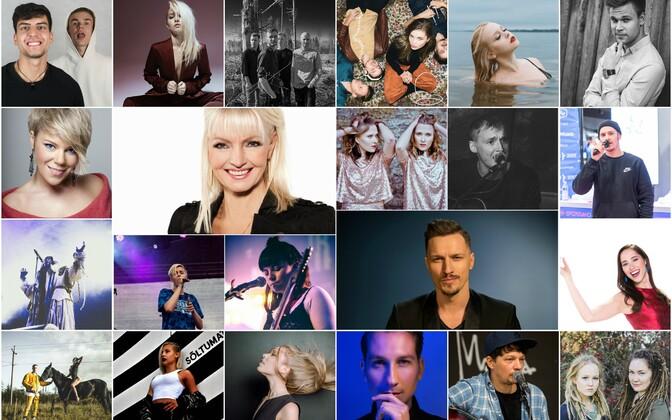 Полуфиналисты конкурса Eesti Laul