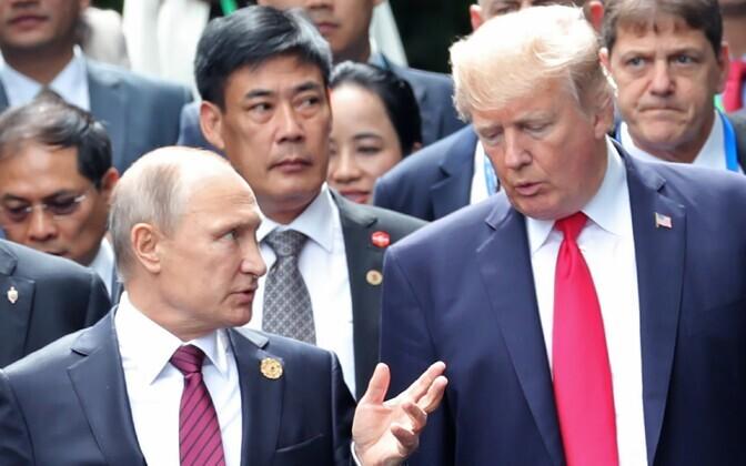 Путин  и трамп во Вьетнаме