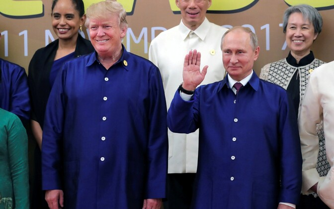 Путин и Трамп на саммите АТЭС во Вьетнаме.