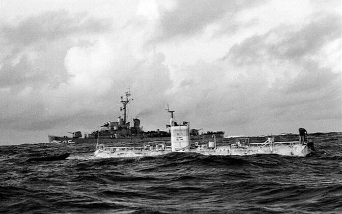 Batüskaaf on iseliikuv aparaat meresügavuste uurimiseks. Andrei Ivanovi romaanis saab sellest sümbol, millega uuritakse idaeurooplaste hingesügavusi. Pildil USA mereväe batüskaaf Trieste enne laskumist Mariaani süvikusse 23.1.1960.