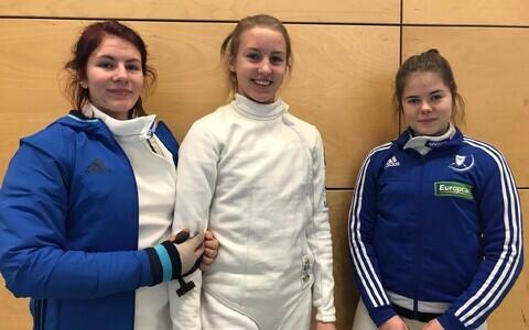 Vasakult: Carmen-Lii Targamaa, Madli Palk, Sandra Skoblov.