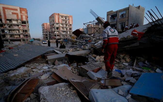 Destruction seen in Iran's Kermanshah Province following a deadly earthquake on Sunday night.