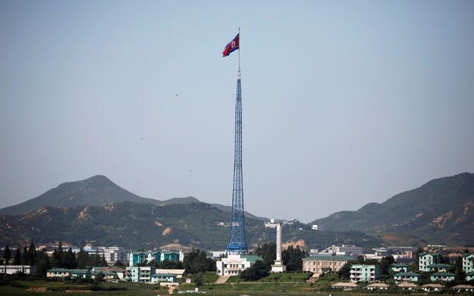 Põhja-Korea pildistatud Panmunjomi külast