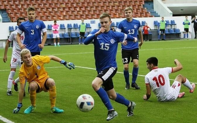 Eesti U-19 jalgpallikoondis Valentin Granatkini memoriaalturniiril