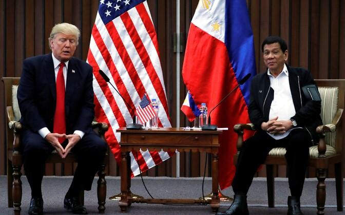 USA president Donald Trump ja tema Filipiinide kolleeg Rodrigo Duterte 13. novembril Manilas.