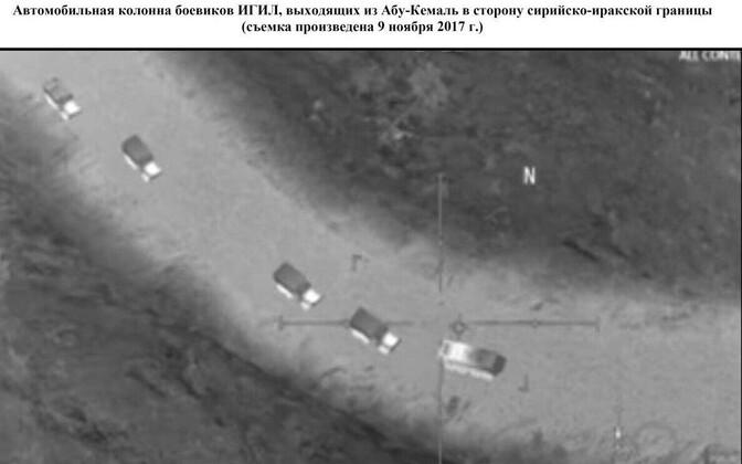 Vene kaitseministeeriumi Twitteri-kontolt praeguseks kustutatud foto, õigemini arvutimängu ekraanitõmmis.