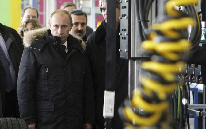 President Vladimir Putin Vladivostokis tehast külastamas.