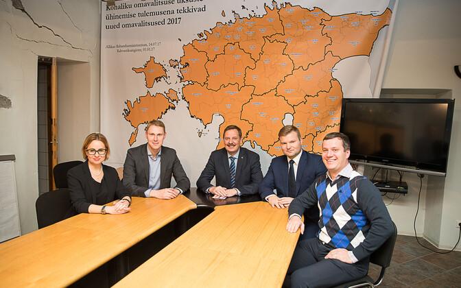 Maria Jufereva, Raimond Kaljulaid, Taavi Aas, Lauri Laats ja Marek Jürgenson